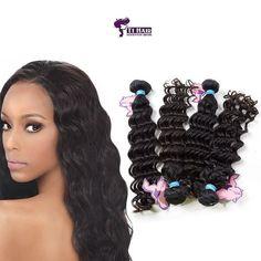 Deep Wave Hair 4 piece set Curtains at Wholesale Rate - Deep Wave Weave, Buy Hair Extensions, Deep Wave Brazilian Hair, Virgin Hair, Wigs, Crochet Necklace, Curtains, Hair Styles, Instagram Posts
