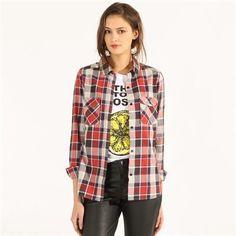 Pimkie.es : La camisa de cuadros aporta un toque roquero y masculino a nuestros looks de temporada.