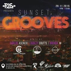 F.O.S. (FreaksOfSound) Presents: #SunSetGrooves Sunday 29/11/2015 @AguamarinaLoung Beats by @djcarlosasencio @dudleycoutts @djbrendam  4pm - 12am #FOS #FreaksOfSound #sundayvibes #TeamMK #MkMusic #DrSoleado #AguabarJD