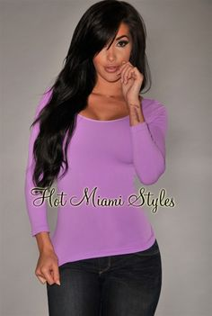 Orchid Seamless Perfect Fit Three Quarter Sleeves Top