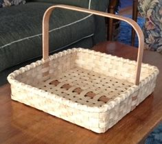 "This 14"" square basket was inspired by the folks at 1803 Ohio Baskets. Check out her site for decorating ideas..."