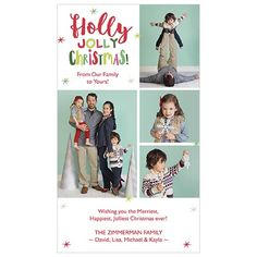 Holly Jolly is a 4x7 one sided card. Visit our website for more holiday card options! | JCPenney Portraits