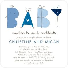 Baby Shower Invitations - Saucy Sketches: Moonstruck by Tiny Prints