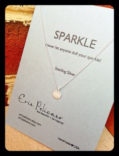 Graduation+Gift.+Inspirational+Jewelry.+Sparkle+by+erinpelicano,+$45.00