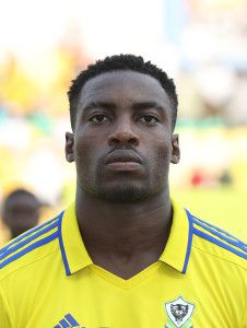 Evouna Malick of Gabon during the 2017 African Cup of Nations Finals Afcon football match between Gabon and Burkina Faso at the Libreville Stadium in Gabon on 18 January 2017 ©Gavin Barker/BackpagePix