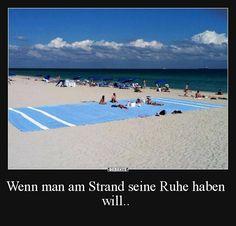 Wenn man am Strand seine Ruhe haben will.. | Lustige Bilder, Sprüche, Witze, echt lustig