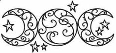 Triple Moon | Urban Threads: Unique and Awesome Embroidery Designs