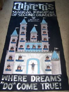 This was the class banner that I made.  The classroom theme was Disney.