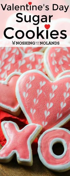 Valentine's Day Sugar Cookies are a fun and delicious way to spread the love! Valentine's Day Sugar Cookies are a fun and delicious way to spread the love! Valentine's Day Sugar Cookies, Chocolate Chip Shortbread Cookies, Toffee Cookies, Chocolate Marshmallows, Spice Cookies, Fancy Cookies, Heart Cookies, Valentines Day Cookies, Valentine Recipes