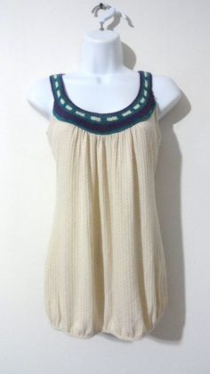 Anthropologie Threads Muti-Colored Tribal Tank Top Shirt Blouse BOHO Medium M #Threads #Blouse