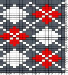 Tricksy Knitter Charts: argyle by diane Tapestry Crochet Patterns, Fair Isle Knitting Patterns, Bead Loom Patterns, Knitting Charts, Weaving Patterns, Knitting Designs, Knitting Stitches, Stitch Patterns, Punto Fair Isle