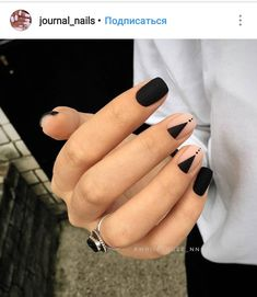 Pin by Heather Hudson on Nails Nail designs, Black nail art lovely nails hudson - Lovely Nails Hair And Nails, My Nails, Nagellack Design, Black Nail Art, Black White Nails, Black Toe, Black Nails Short, Minimalist Nails, Minimalist Style