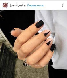 Pin by Heather Hudson on Nails Nail designs, Black nail art lovely nails hudson - Lovely Nails Get Nails, Matte Nails, Nails Polish, How To Do Nails, Hair And Nails, Dark Nails, Minimalist Nails, Minimalist Style, White Nail Designs