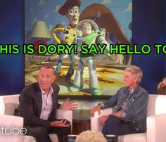 """Tom Hanks And Ellen Did A Live """"Toy Story"""" And """"Finding Dory"""" Mashup And…"""