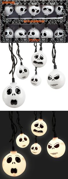 They're baaaack! Jack Skellington string lights are back at the DisneyStore.com. How cool would these be, hanging these at your Tim Burton-inspired Halloween? Party