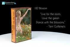 """NEW Houston Llew Spiritiles 182 Blossom, the story on the sides reads: """"Live for the roots. Love the green. Dance with the blossoms."""" - Terri Guillemets"""