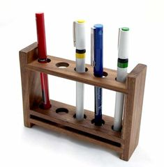 choices for finding indispensable requirements of Best Fine Woodworking Ideas Woodworking Furniture, Woodworking Plans, Woodworking Apron, Youtube Woodworking, Woodworking Classes, Custom Woodworking, Wooden Pen Holder, Wood Pencil Holder, Wooden Desk Organizer