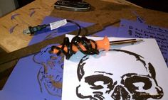 Picture of AIRBRUSH STENCILS MADE EASY WITH A SOLDERING IRON