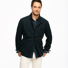 Woolrich John Rich & Bros.™ indigo canvas Upland jacket - J.Crew in good company - Men's outerwear - J.Crew