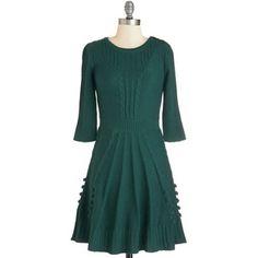 ModCloth Mid-length 3 Sweater Dress Warm Cider Dress
