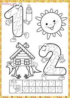 Preschool and Homeschool Numbers Preschool, Math Numbers, Preschool Lessons, Kindergarten Math, Teaching Math, Math Lessons, Preschool Activities, Kids Math Worksheets, Math For Kids