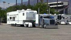Three Custom Big Rig / Fifth Wheel Combos! Peterbilt 359, Mack Trucks, Peterbilt Trucks, Big Rig Trucks, Old Trucks, Custom Big Rigs, Custom Trucks, Camper Boat, Fifth Wheel Campers
