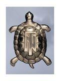 Chelonian Tortoise, Donated by Gabriele D'Annunzio to Tazio Nuvolari in 1932, Gold, Italy Digitálně vytištěná reprodukce