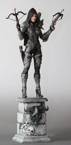 Home made Diablo 3 Demon Hunter statue