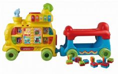 Amazon.com: VTech Sit-to-Stand Alphabet Train: Toys & Games
