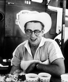 James Dean in Cowboy hat and Glasses