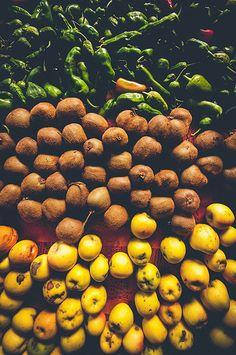 Peppers + Kiwifruit + Apples