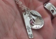 memorial jewelryremembrance neckalce infant loss by TheSilverWing, $79.00