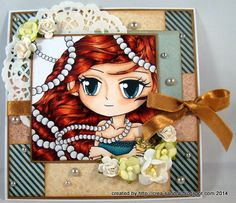 Copic Markers, Color Card, Hand Coloring, Paper Crafts, Craft Cards, Pearls, Cute, Anime, Handmade