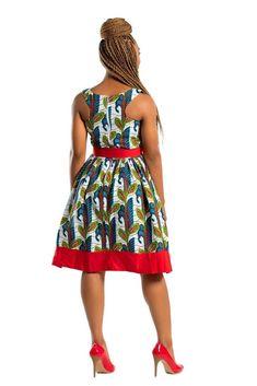 African Print Dress Ankara Dress African Clothing for Women Summer Dress Gift for her African Midi DressAfrican Fashion African Print Skirt, African Print Dresses, African Dresses For Women, African Attire, African Fashion Dresses, African Outfits, Fashion Outfits, Fashion 101, Fashion Styles