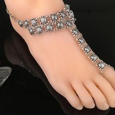 Coin Medallion Ladies Retro Style Exaggeration Mittens Anklet #LYW