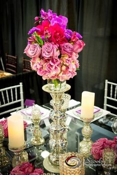 """The award winning tabletop gallery from The Special Event 2014 at Gaylord Opryland Resort and Convention Center  A Magical Affair. """"Opulence in Orchid"""" #amagicalaffair #scoobiephoto #bellesfleurs #dragonflycustomdesign #musiccitytentsandevents #pantone #radiant #orchid #tablescape #wedding #thespecialevent #purple #tabletop #tabledesign #events"""