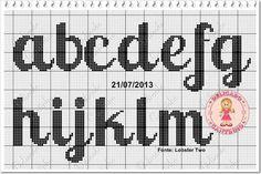 A Abc Letra, Plastic Canvas Letters, Crochet Letters, Cross Stitch Letters, Stitch 2, Le Point, Perler Beads, Embroidery, Macrame