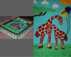 3.  Same idea as the others...leopard print around the sides.  The difference is that these animals are done in buttercream, not fondant.