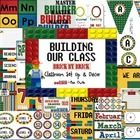 Building Our Classroom, Brick By Brick Classroom Set Up and Theme Decor  1. Welcome Sign- Print on cardstock and frame 2.. Name Tag/Blank Labels wi...