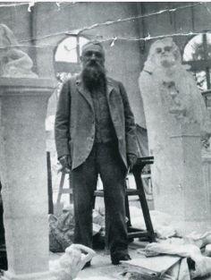 Auguste Rodin's studio.