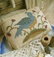 Bird N Blossoms Pin Cushion - Cross Stitch Pattern