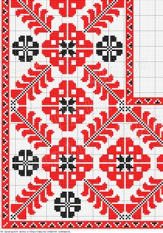 Replace leafy corner Counted pattern