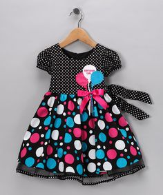 Take a look at this Black & Blue Balloon Dress - Toddler & Girls by Gerson & Gerson and Allison Ann on #zulily today!