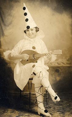 Vintage Halloween costume photograph