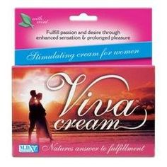 M.d. Science Lab Viva Cream Stimulating Cream For Women - 3 Tubes. One retail box containing three 0.25 fl oz .7.5 ml. tubes, 0.75 fl oz total. Viva Cream is a unique combination of herbal extracts, vitamins and amino acids in a thick, clear, non-sticky gel intended to add pleasure, increase desire and enhance the female orgasm. Developed by women for women, this revolutionary product works almost instantly to initiate arousal and create a pleasurable sensation for women who wish...