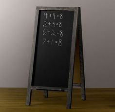 Chalkboard Easel - Fancy things up a bit with this chalkboard easel. It also comes in a white, scalloped frame.