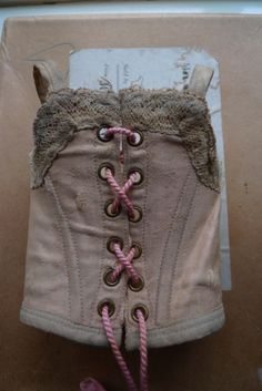 Adorable antique silk corset for french or german bisque doll | eBay