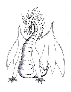 Dragon coloring pages realistic