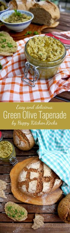Easy, healthy and delicious Mediterranean green olive tapenade makes an amazing bread spread and vegetable dip. 10-minute vegan recipe.
