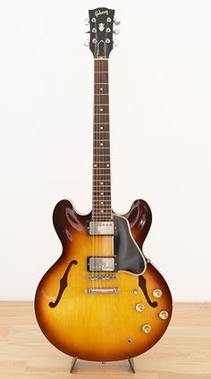 Gibson ES-335 finally my dream guitar. Still have it today. Dream jazz, driving rock, or country twang, it does it all perfectly. Love it!